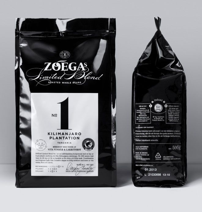 Coffee packaging. Black as it's content.