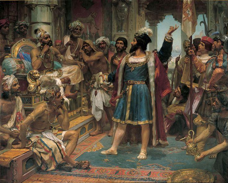 Vasco da Gama perante o Samorim de Calecute - Calecute – Wikipédia, a enciclopédia livre