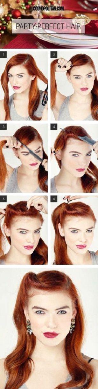 Vintage Hairstyle Trick to Hide Bangs   Makeup Mania