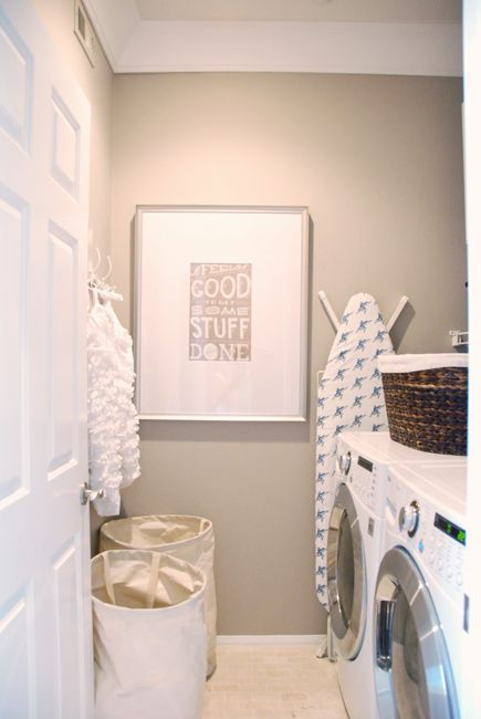 wall color - laundry art - 6th Street Design School | Kirsten Krason Interiors : Feature Friday: McGee Life
