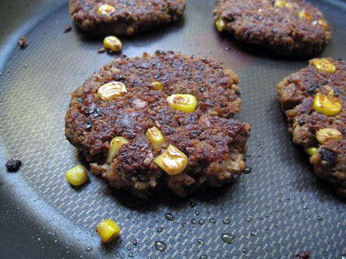 Seitan Black Bean Corn Burgers | FOOOOOOOOD | Pinterest