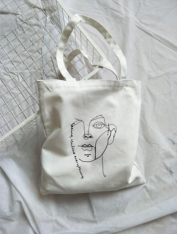 Etsy Canvas Tote Bag Https Www