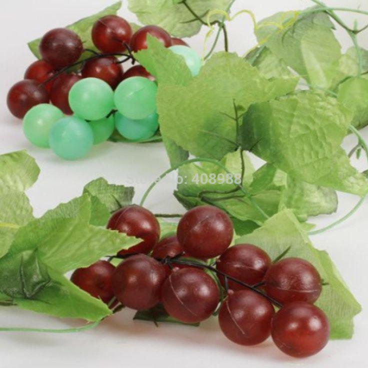 Купить оптом пластмассовые винограда моделирование vine garland фрукты для дома сад / отделка потолка
