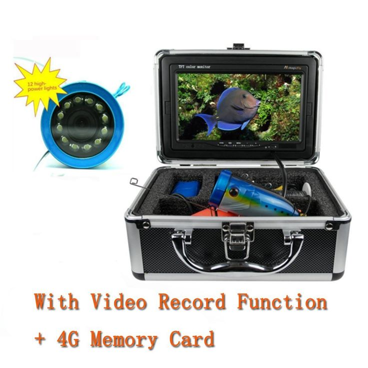 15M Underwater Fish Finder Fishing Video Camera with 7' TFT Color LCD Monitor 1000tvl CCD ,With DVR Record  Free 4G Memory Card *** Click image to review more details.