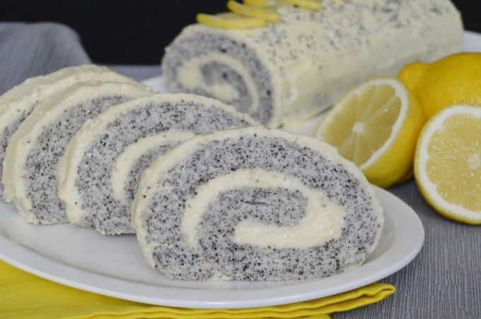 Maková roláda s citrónovým krémem