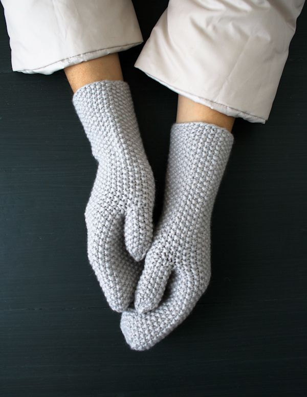 Whit's Knits: Seed Stitch Mittens and Hand Warmers.