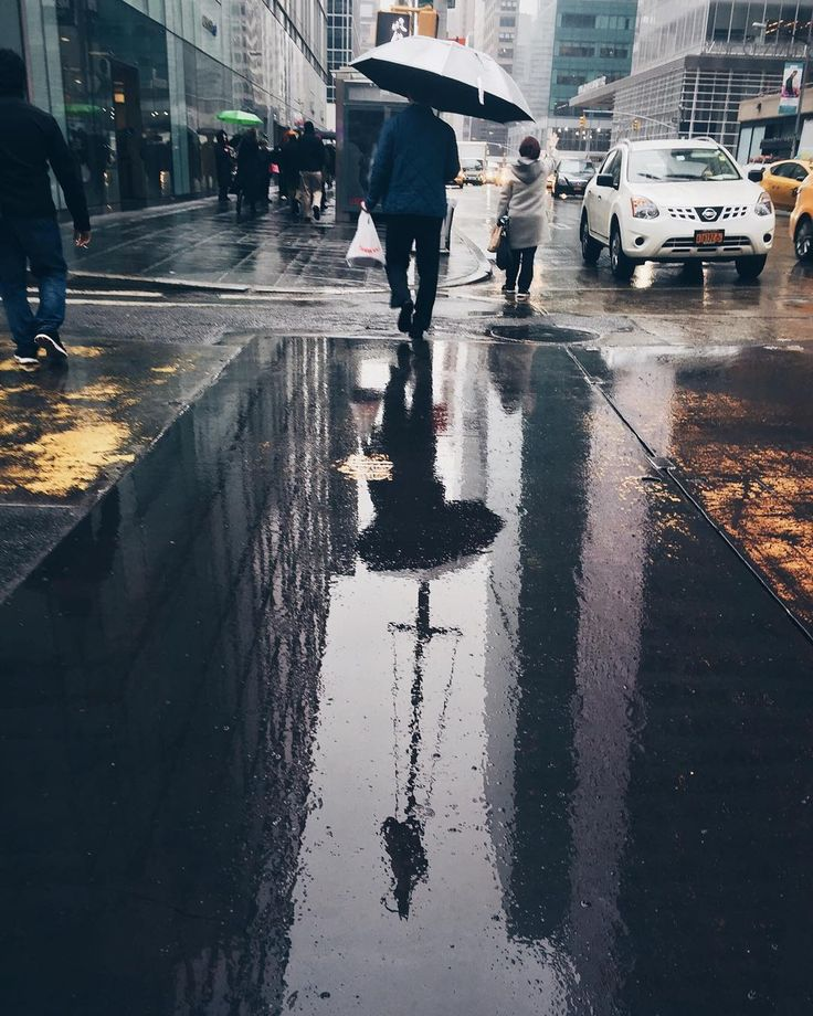 Best Street Photography Images On Pinterest Urban - Photographer captures the amazing reflections of puddles in new yorks streets