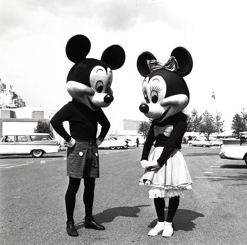 L to R: Mickey, Minnie