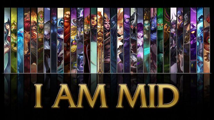 League of Legends I AM MID wallpaper by ~NibblesMeKibbles on deviantART