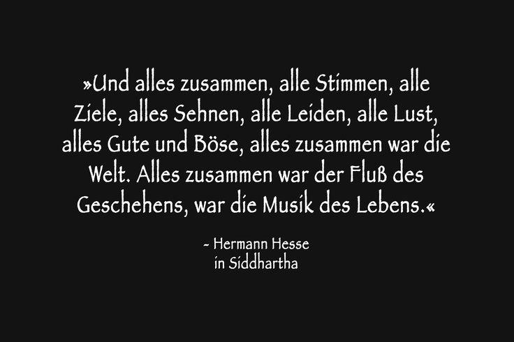 Der Fluß des Geschehens usw. Hermann Hesse in »Siddhartha«