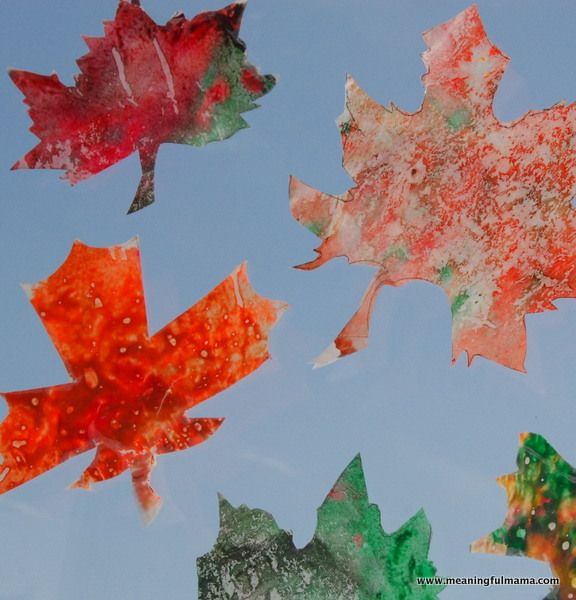 Fall Leaf Crayon Craft - Meaningfulmama.com