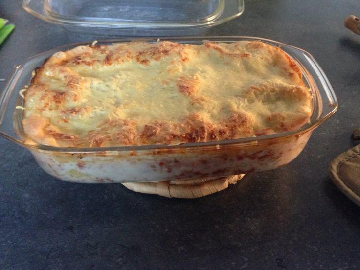 Zelfgemaakte lasagne! Super lekker!