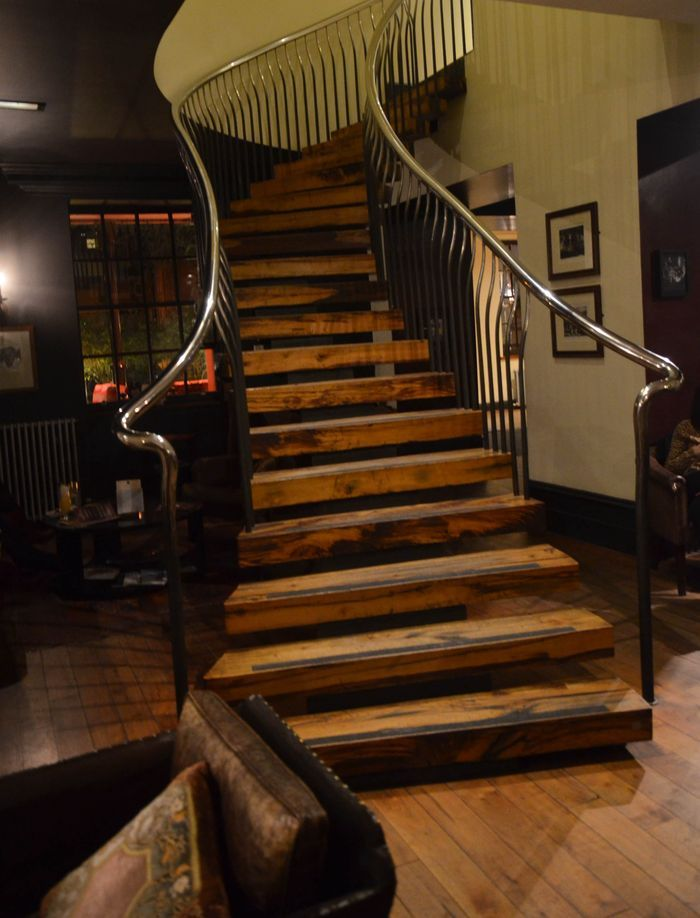 wooden staircase. Used it for my initial plan but changed it afterwards