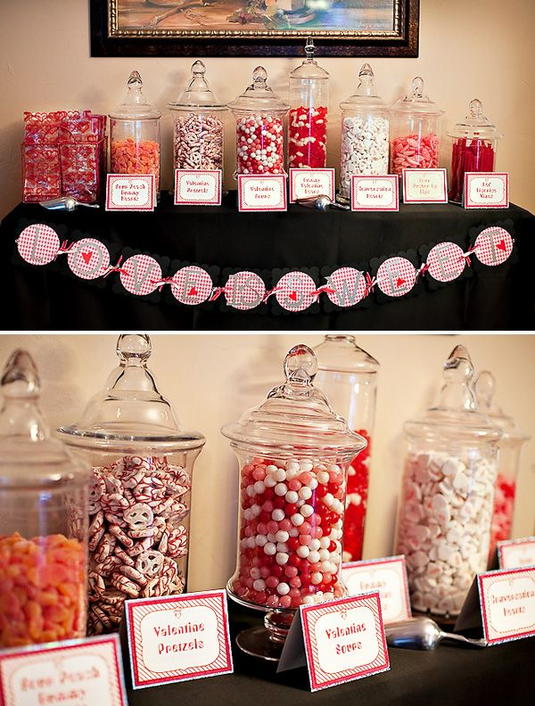 Candy Station, they should always have one of these at a party, i am not much of a cake person I can make the banner