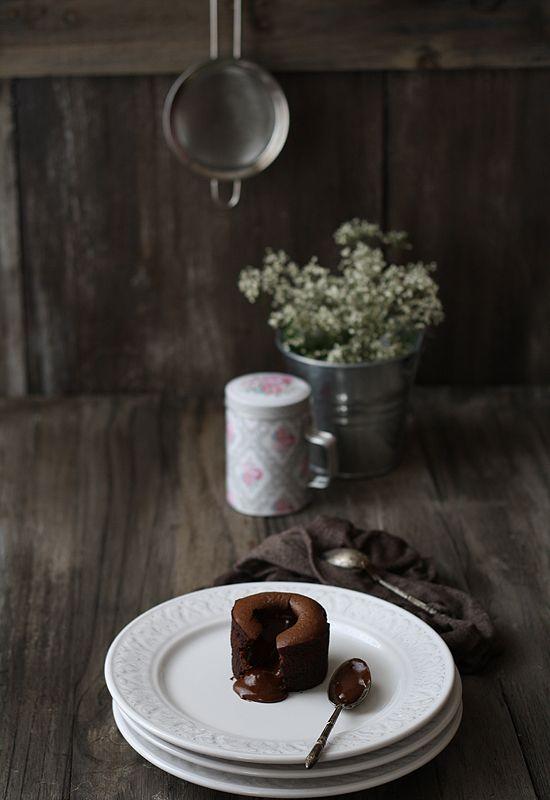 Coulant de chocolate. Un cuore di cioccolato liquido dentro un guscio soffice. Devono essere favolosi.