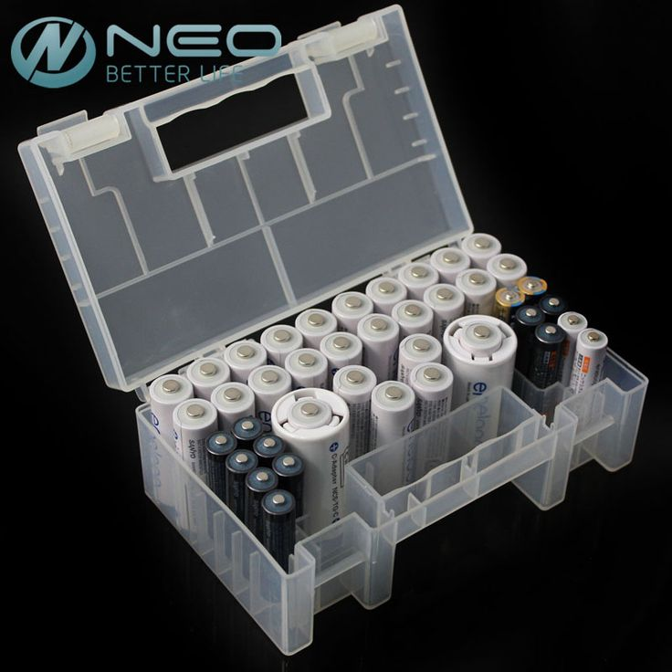 NEO 15cm Hard Plastic Battery Case/Organizer/Holder/Container Battery Storage Box for AAA,AA,9V battery,Card Reader and SD Card