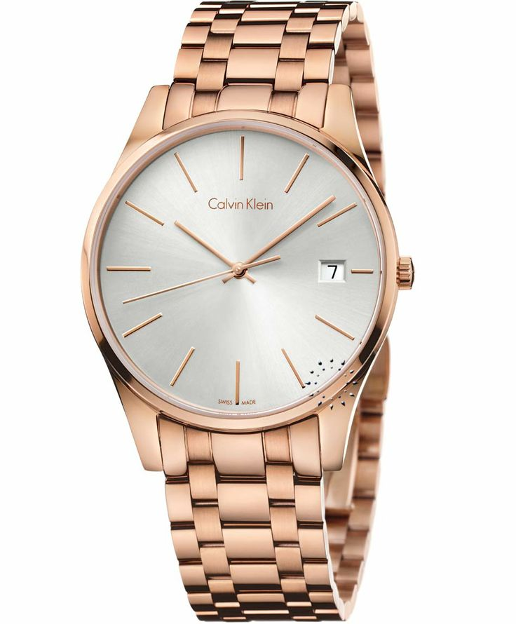 Calvin KLEIN Time Rose Gold Stainless Steel Bracelet Τιμή: 323€ http://www.oroloi.gr/product_info.php?products_id=37968