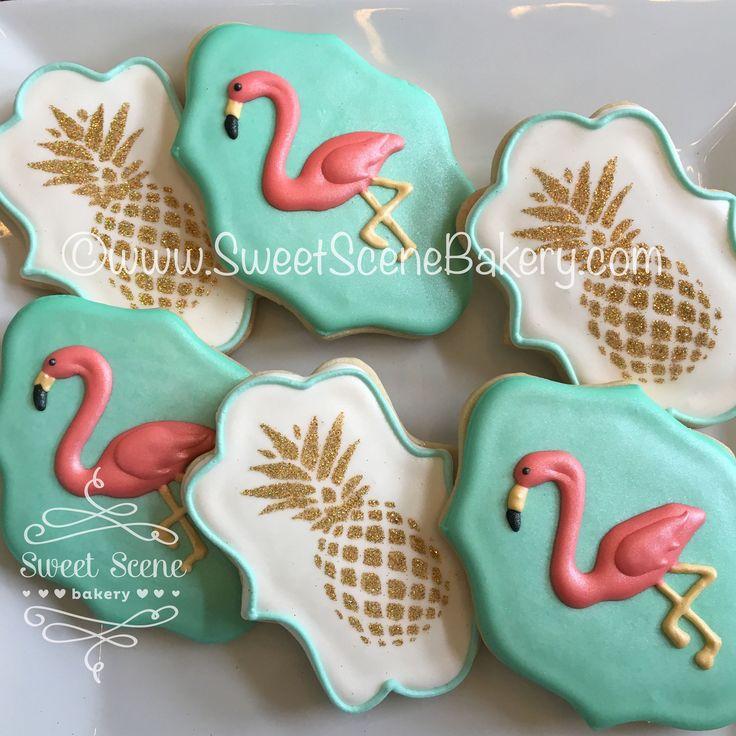 https://flic.kr/p/LRJnYR | Pineapple Flamingo Cookies