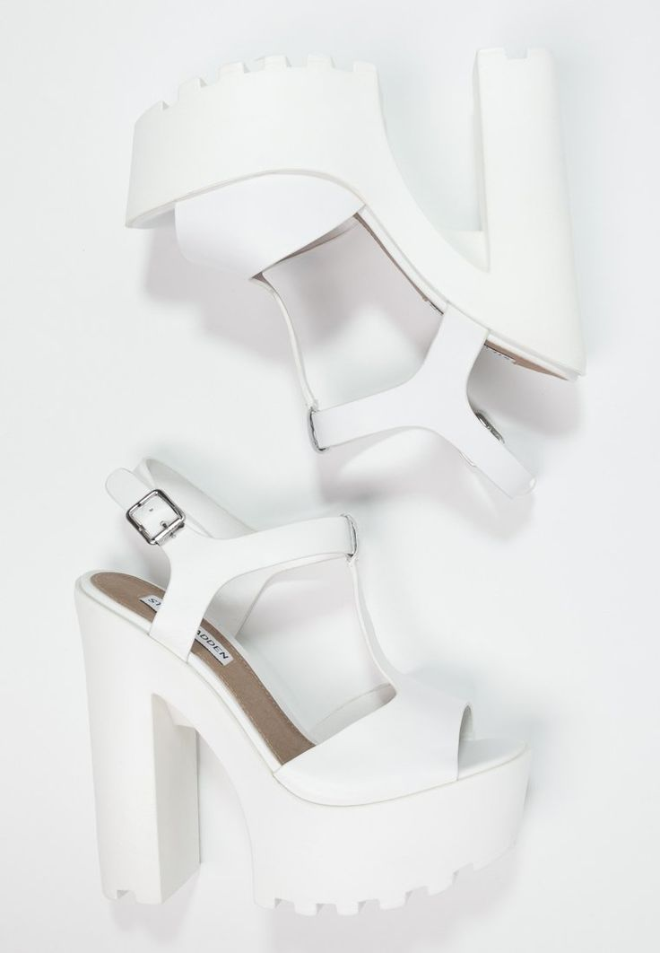 Steve Madden GIRLTALK - Platform sandals - white - Zalando.co.uk