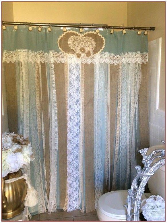Drapes Curtains Drapery Shabby Chic In 2020 Shabby Chic Shower Curtain Shabby Chic Bathroom Burlap Shower Curtains