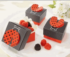 Cute as A Bug 3D Wing Ladybug Favor Box - Ladybug Party Favors