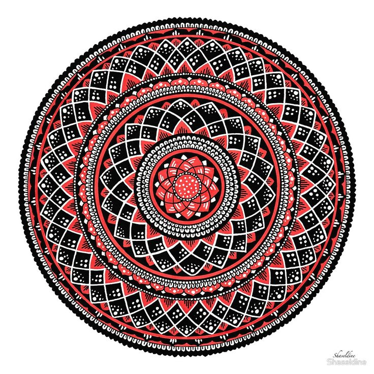 Autumn hand drawn Mandala by Stacey Haseldine