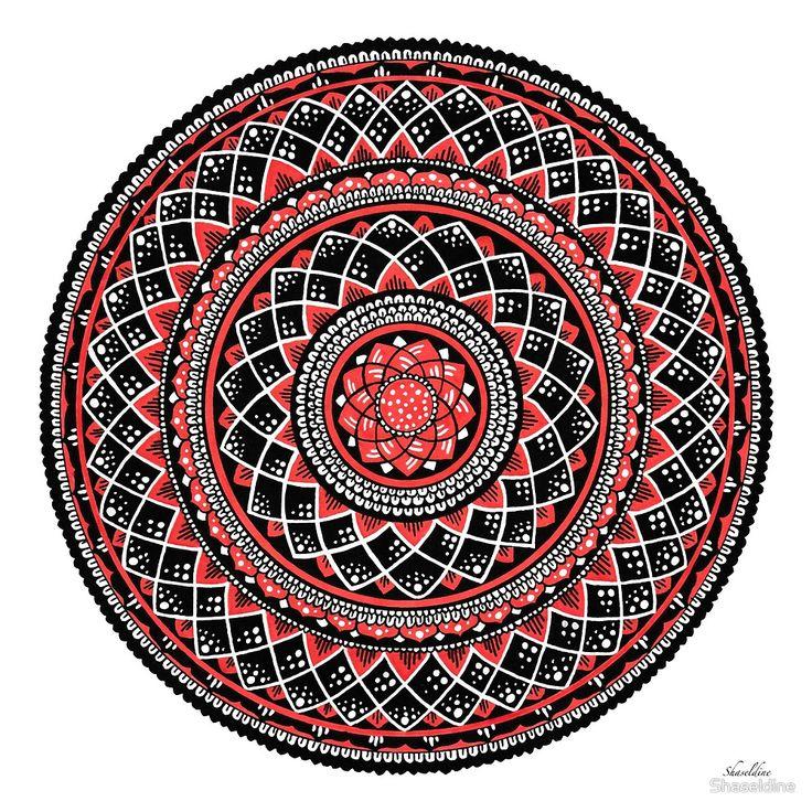 Autumn hand drawn Mandala by Stacey Haseldine