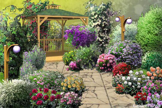 Gazebo Glory - GardenPuzzle - online garden planning tool