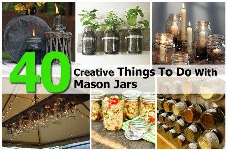 40 Creative Things To Do With Mason Jars