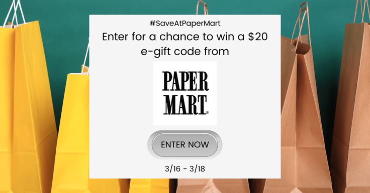 Giveaway enter to win a 20 paper mart gift code 20