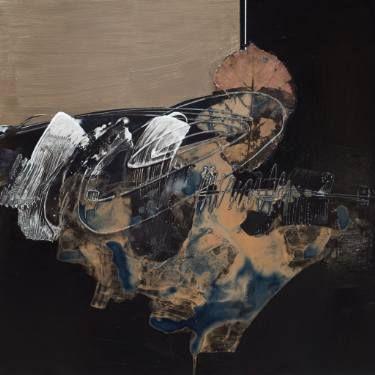 """Saatchi Art Artist Aljona Shapovalova; Painting, """"Hieroglyph"""" #art"""