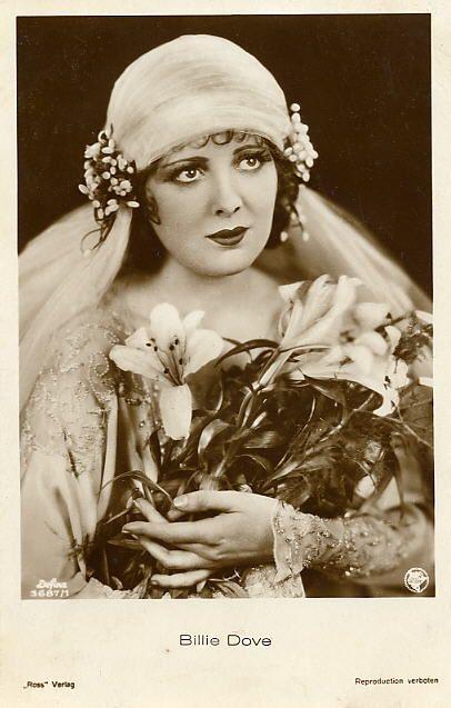 old silent moviestar photos | Silent movie star Billie Dove wearing an original Juliet Cap Veil