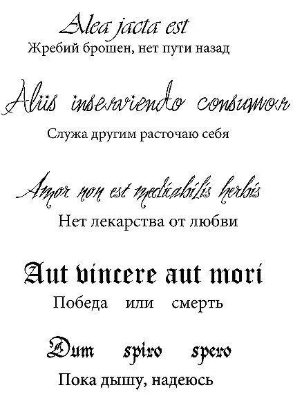 Надпись на латыни перевод и картинка