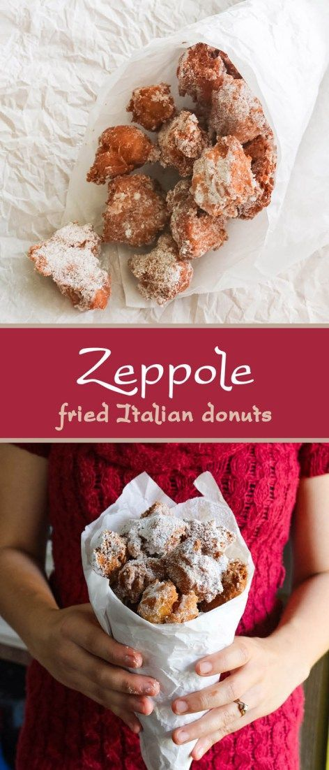 These zeppole are semi-dense, not-too-sweet fried Italian donuts. Delicious with powdered sugar and Nutella for dipping!   www.pinchmeimeating.com