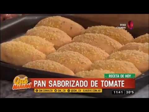 Receta de pan saborizado de tomate