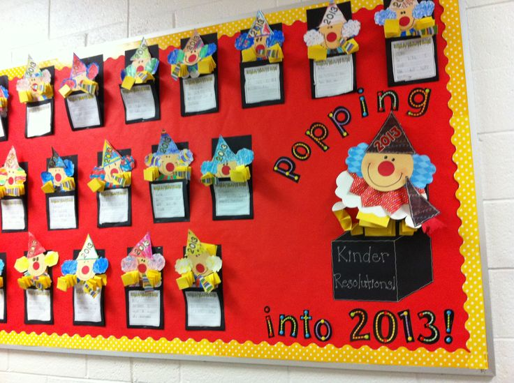 New Year Classroom Decoration Ideas ~ New year s kindergarten bulletin board jack in the box