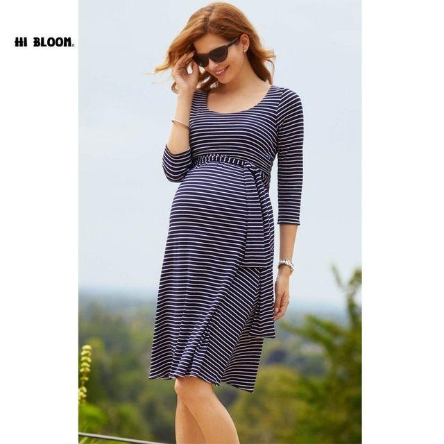 Pascua dress + fajas de maternidad hasta la rodilla señora de la oficina elegante vestido de noche para las mujeres embarazadas vestidos de maternidad ropa s-xxxl