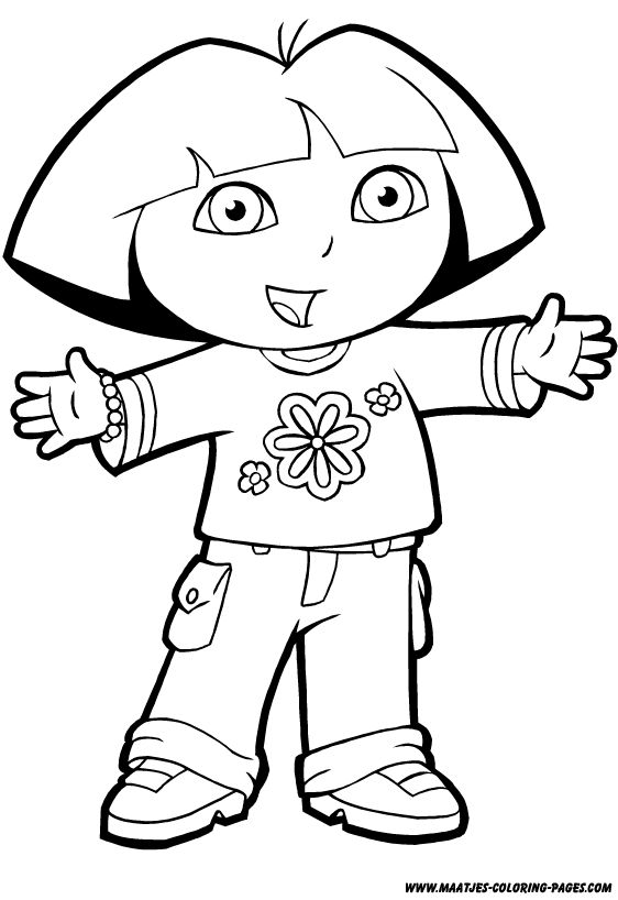 Free Printable Sweet Dora The Explorer Coloring Pages