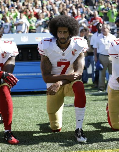 Former San Francisco 49ers quarterback Colin Kaepernick is visiting the Seattle Seahawks on Wednesday for a potential role with the 49ers' NFC West foe.