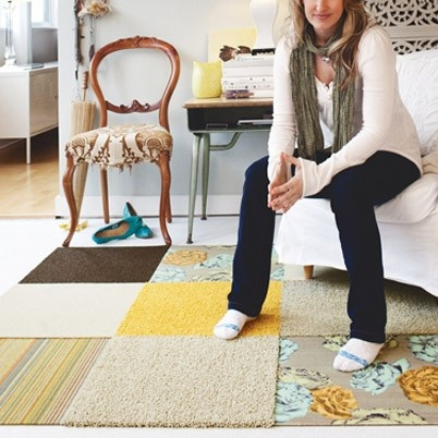 Love this rug made of FLOR tiles: Flor Floors, Carpets Tile, Floral Prints, Tile Patterns, Flor Tile, Tile Ideas, Carpets Squares, Letters Cottages, Rugs