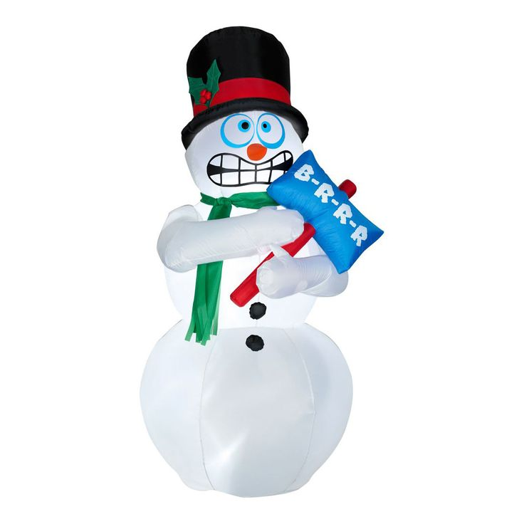 Animated inflatable shivering snowman snowman snowmen for Animated snowman decoration