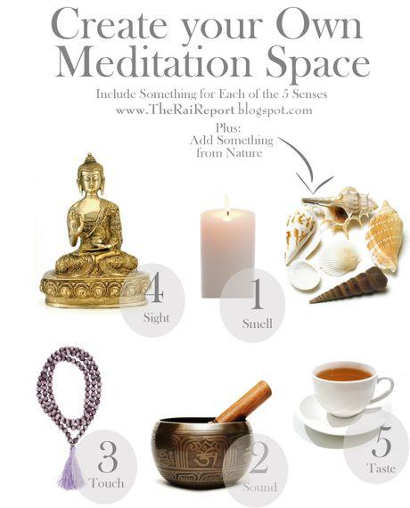 Itens para seu altar de meditação