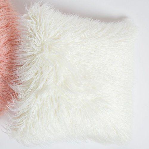 8 Oak Lane Mongolian Fur Throw Pillow & Reviews | Wayfair