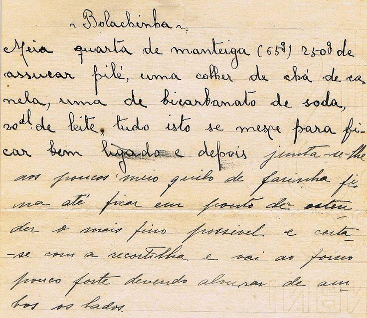 As Receitas da Avó Helena e da Avó Eduarda: Bolachinha