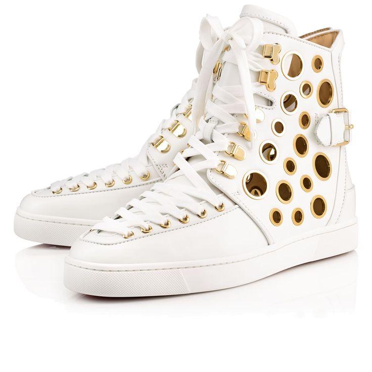 Artesur Christian Louboutin Alfibully Men S Flat White Leather