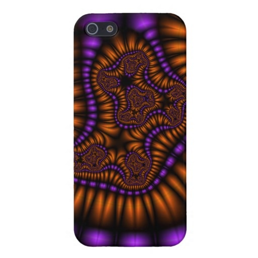 Orange and Purple Fractal Case For iPhone 5 by All Kinds of Cases. #iphone5 #fractal #orange #purple