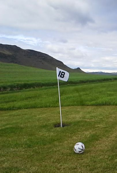 Location   Markavöllur is a brand new 18 hole footgolf course right next to Flúðir. The course is located between the  Miðfell and Galtfells – right in the Golden circle area  The course is 4 km south of Flúðir and only about an hour and 15 min drive from the capital.  We are by road No. 30, right Miðfell. Coordinates: 64 ° 5,954'N, 20 19,617'W