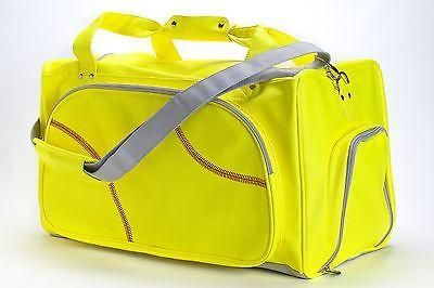 This softball duffel bag is created from actual softball leather. The softball material is durable, puncture resistant, and virtually spill proof! If you love s