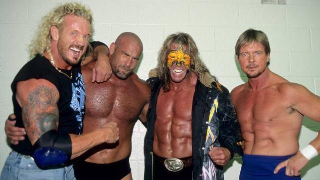 DDP, Goldberg, The Ultimate Warrior and Rowdy Roddy Piper ...