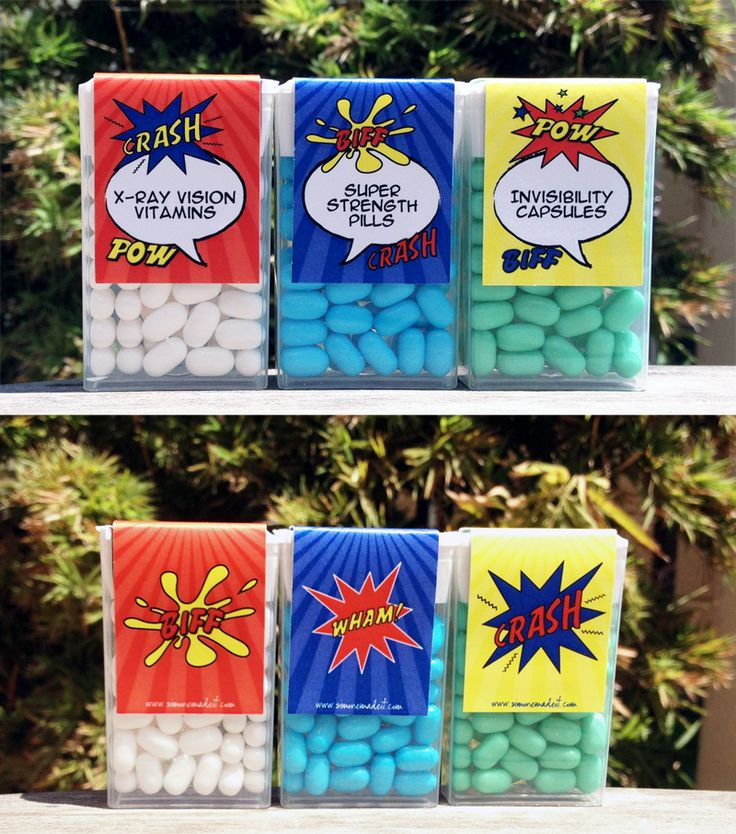 Superhero Pills (Tic Tac Labels) O.K. now my dog eats tic tacs, but he really loves candy canes best I think.